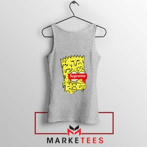 Bart Simpson Supreme Grey Tank Top