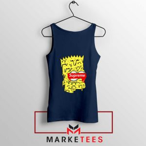 Bart Simpson Supreme Navy Blue Tank Top