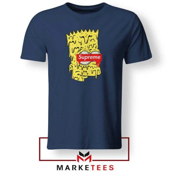 Bart Simpson Supreme Navy Blue Tee Shirt