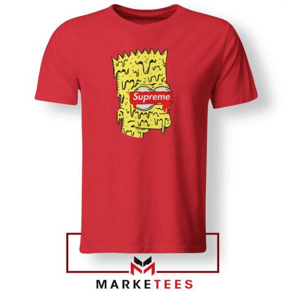 Bart Simpson Supreme Red Tee Shirt