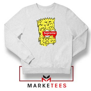 Bart Simpson Supreme White Sweater