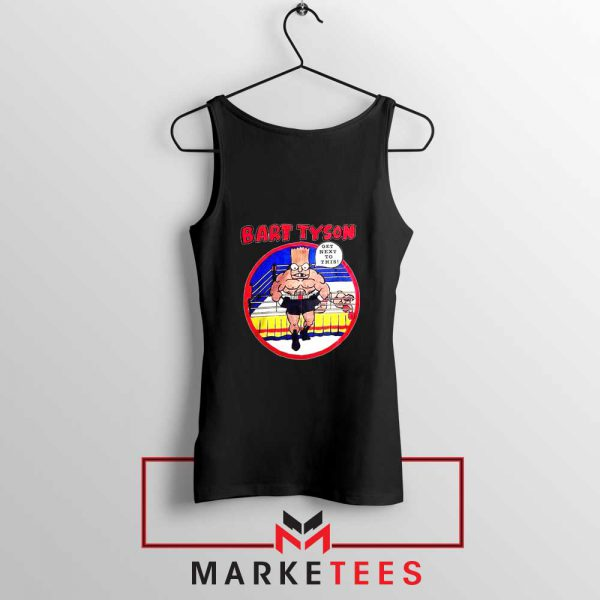 Bart Tyson Black Tank Top The Simpsons