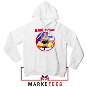 Bart Tyson Hoodie White The Simpsons