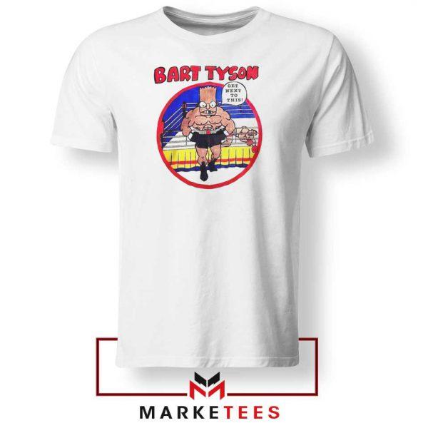 Bart Tyson White Tshirt The Simpsons