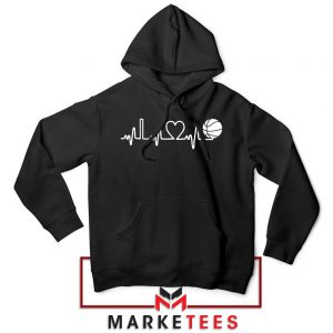 Basketball Heartbeat Graphic Hoodie