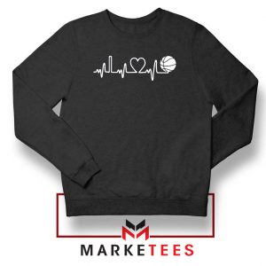 Basketball Heartbeat Graphic Sweatshirt