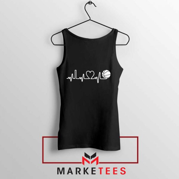 Basketball Heartbeat Graphic Tank Top