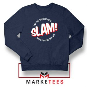 Basketball Quote Navy Blue Sweater