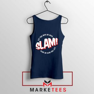 Basketball Quote Navy Blue Tank Top
