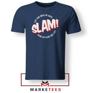 Basketball Quote Navy Blue Tee Shirt