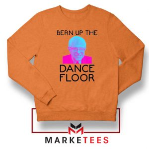 Bern Up The Dance Floor Orange Sweater