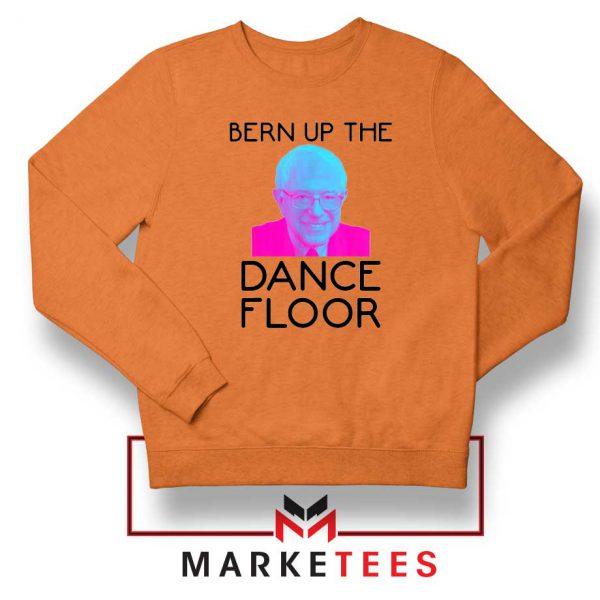 Bern Up The Dance Floor Orange Sweater