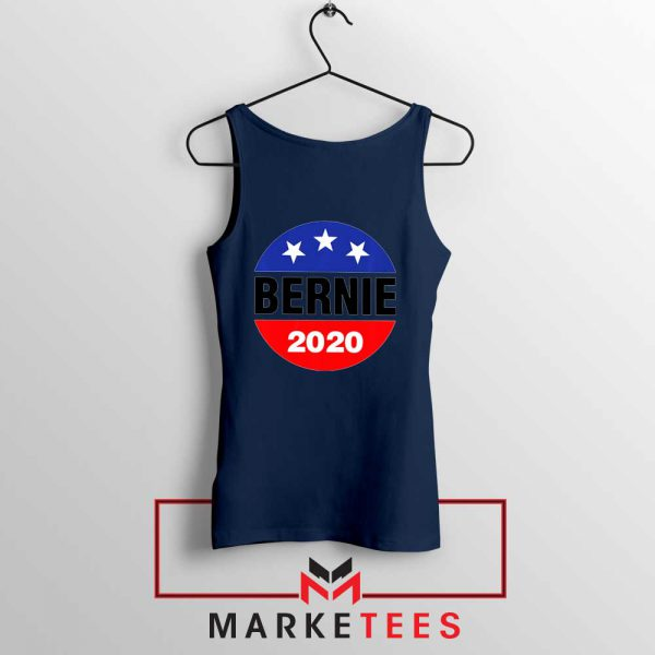 Bernie For President Navy Blue Tank Top