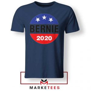 Bernie For President Navy Blue Tee Shirt