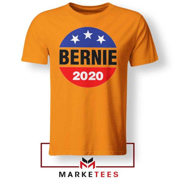 Bernie For President Orange Tee Shirt