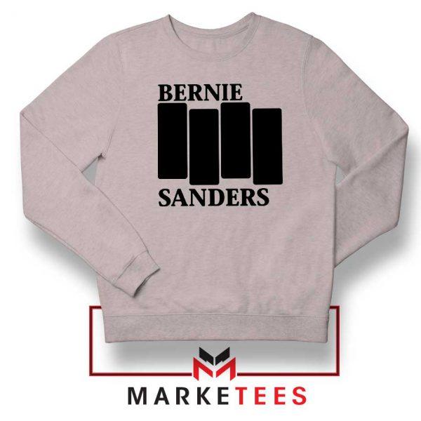 Bernie Sanders Black Flag Grey Sweater