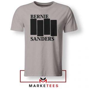 Bernie Sanders Black Flag Grey Tee Shirt