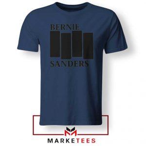 Bernie Sanders Black Flag Navy Blue Tee Shirt