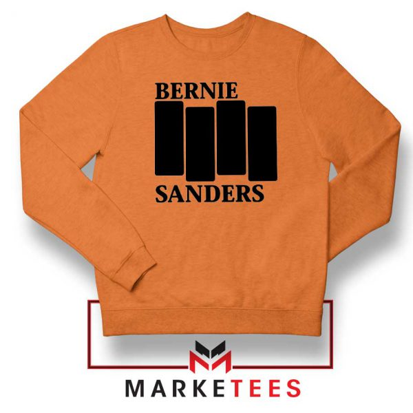 Bernie Sanders Black Flag Orange Sweater