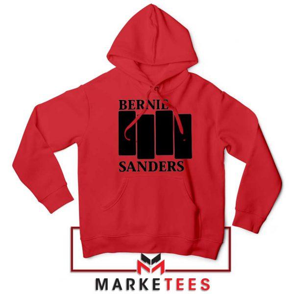 Bernie Sanders Black Flag Red Hoodie