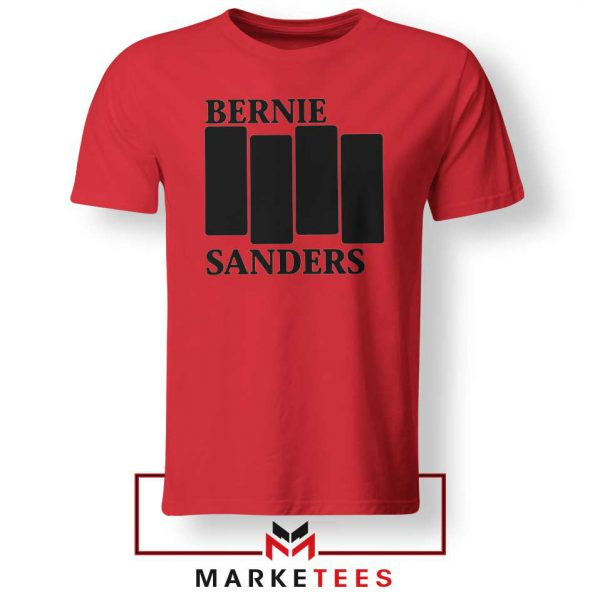 Bernie Sanders Black Flag Red Tee Shirt