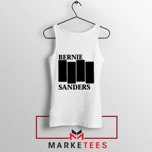 Bernie Sanders Black Flag White Tank Top
