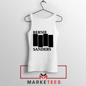 Bernie Sanders Black Flag White Tank Top
