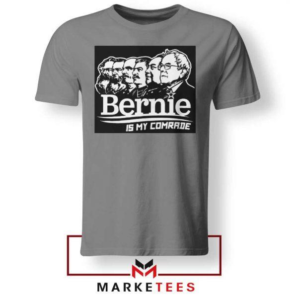 Bernie Sanders Communist Sport Grey Tee Shirt