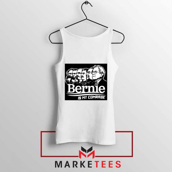Bernie Sanders Communist White Tank Top