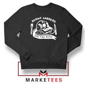 Bernie Sanders Eat The Rich Black Sweatshirt