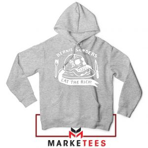 Bernie Sanders Eat The Rich Sport Grey Hoodie
