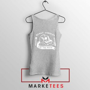 Bernie Sanders Eat The Rich Sport Grey Tank Top
