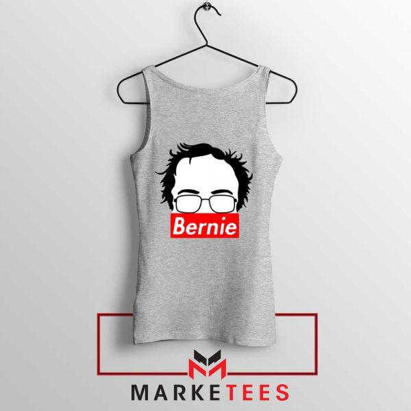 Bernie Silhouette Supreme Grey Tank Top