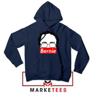 Bernie Silhouette Supreme Navy Blue Hoodie