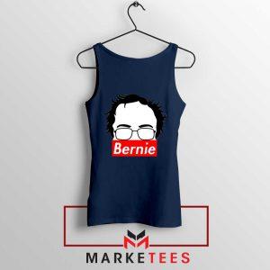 Bernie Silhouette Supreme Navy Blue Tank Top