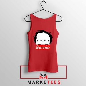 Bernie Silhouette Supreme Red Tank Top