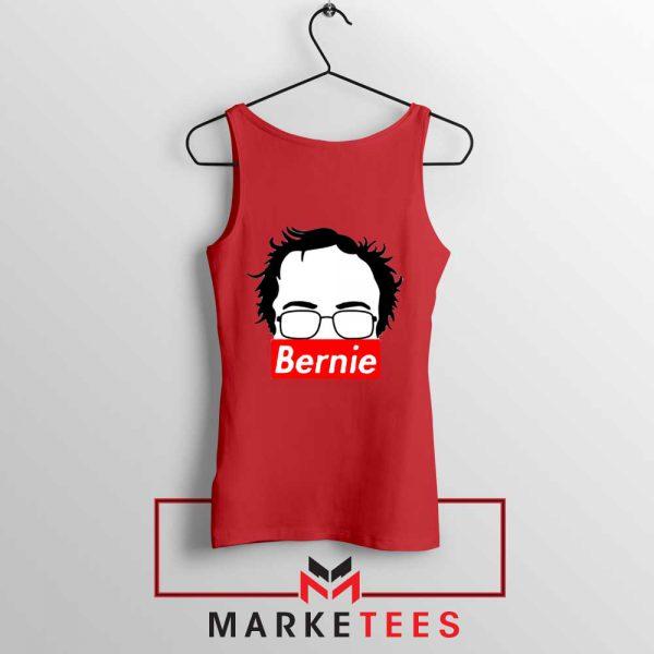 Bernie Silhouette Supreme Red Tank Top