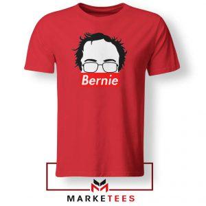 Bernie Silhouette Supreme Red Tee Shirt