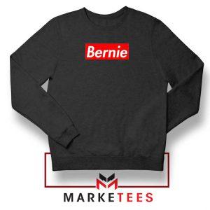 Bernie Supreme Parody Black Sweatshirt