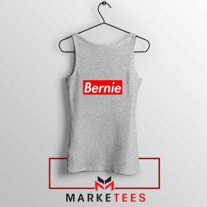 Bernie Supreme Parody Sport Grey Tank Top