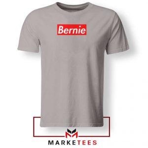 Bernie Supreme Parody Sport Grey Tee Shirt