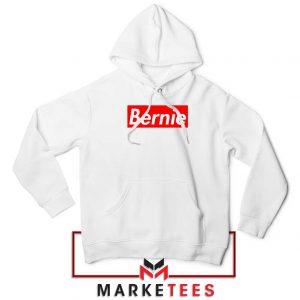 Bernie Supreme Parody White Hoodie