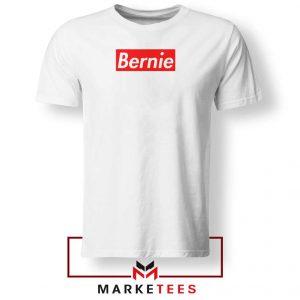 Bernie Supreme Parody White Tee Shirt