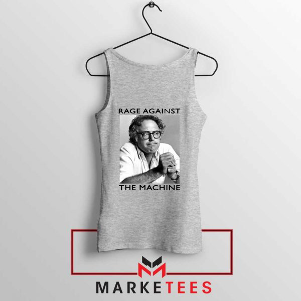 Bernies Rage Agaist The Machine Grey Tank Top
