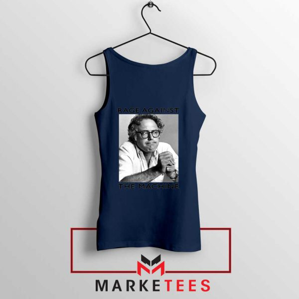Bernies Rage Agaist The Machine Navy Blue Tank Top
