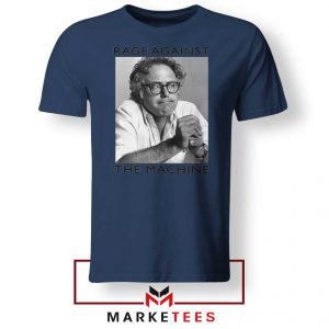 Bernies Rage Agaist The Machine Navy Blue Tshirt