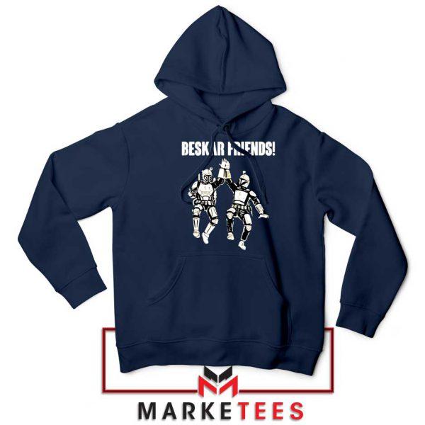 Beskar Friends The Mandalorian Navy Blue Hoodie