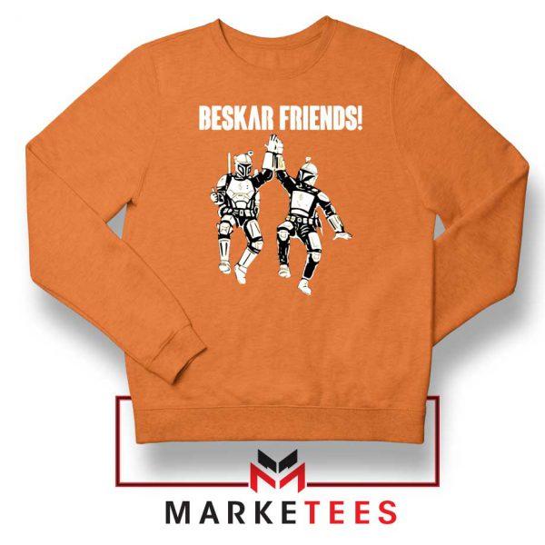 Beskar Friends The Mandalorian Orange Sweatshirt