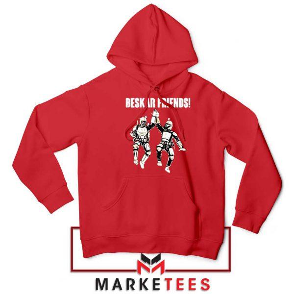 Beskar Friends The Mandalorian Red Hoodie