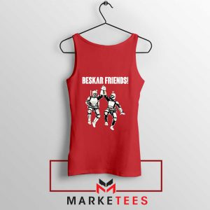 Beskar Friends The Mandalorian Red Tank Top